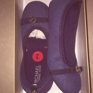 Navy blue Micheal Kors kids shoes